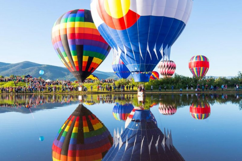 Hot-air balloons will adore the skies of Steamboat Springs, Colorado, on July 10 and 11, 2021