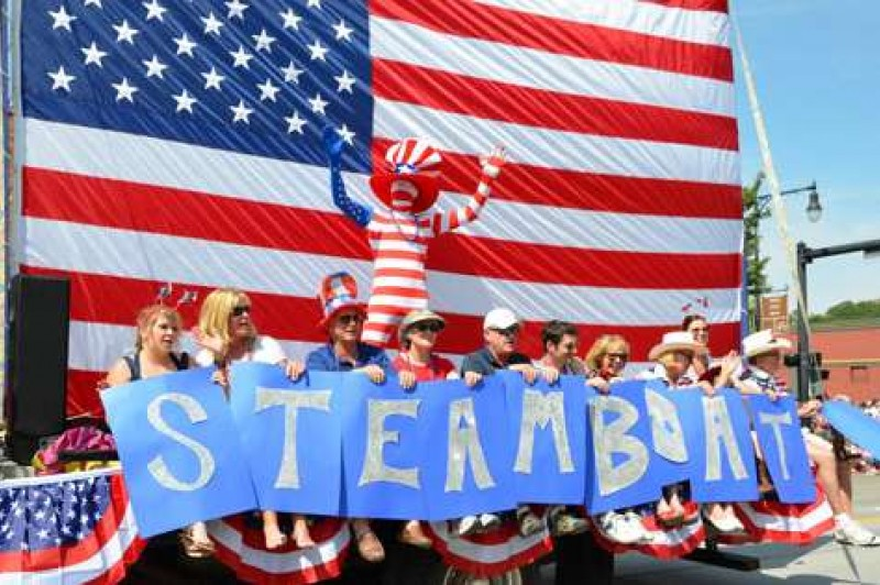 Celebrating the Fourth of July in Steamboat Springs, Colorado.